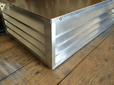 Custom fixed aluminum louver - Plan B manufacturing